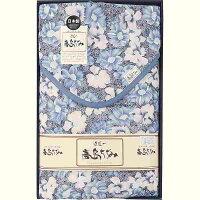 高島ちぢみ サラッと快適 敷パッド ブルー TAS-2552B BL