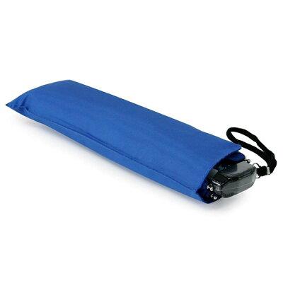 TANPOPO フラット スリム 折り畳み 三つ折り傘 50cm 無地 ブルー 50608