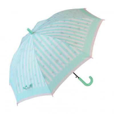 弘懋 53395 55cm子供傘JP ストライプリボン緑