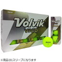 VOLVIK ゴルフボール Volvik VIVID 1スリーブ 3球 /グリーン