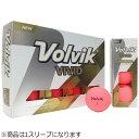VOLVIK ゴルフボール Volvik VIVID 1スリーブ 3球 /ピンク