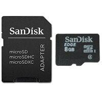 SanDisk microSDHC 8GB UHS-1C4 SDアダプター付 プラケース入り SDSDQAB-008G-BULK