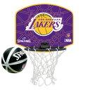 スポルディング Basketball マイクロミニバックボード NBAロゴマン レイカーズ 77-628Z