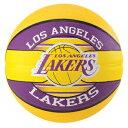 スポルディング バスケットボール7号 2017NBAロサンゼルス レイカーズ ラバー SPALDING83-510Z