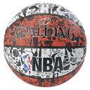 スポルディング SPALDING ボール グラフィティ 83ー574Z レッド