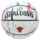 スポルディング SPALDING バスケットボール ブルズ マーブル 7号球 ホワイト×レッド 83-930J