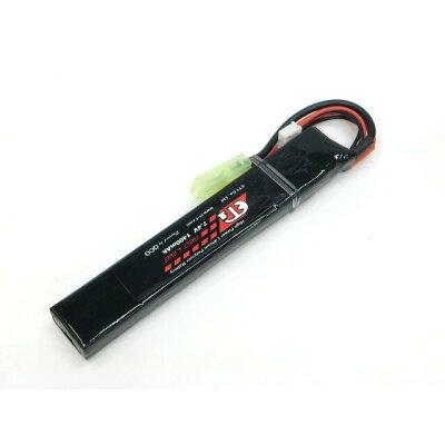 ET1 レッドライン LiPo 7.4V 1400mAh スティックタイプ 一部加工でSOPMODストック対応 リポバッテリー