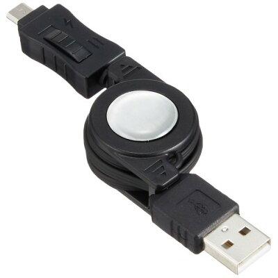 オズマ スマートフォン用 スイッチ付通信充電ケーブル 70cm ブラック IUCDR-SP01K(1コ入)