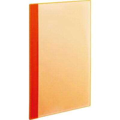 tanosee 薄型クリアブック 角まるa4タテ 10ポケット オレンジ