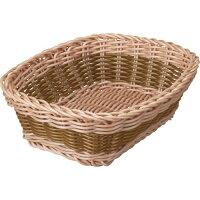 カルティエラタン 洗えるバスケット バイカラー レクタングル ブラウン(1コ入)