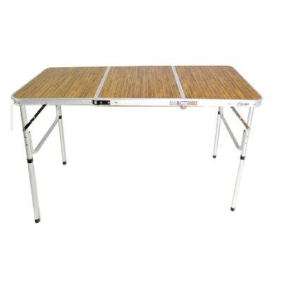 アウトドア 折りたたみ テーブル 軽量 アルミ 3つ折りテーブルMサイズ 高さ