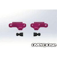 アルミショックアジャストブロックType-2 For OD/ピンク OVERDOSE ウエルド OD2267 アルミショック Type-2 ピンク