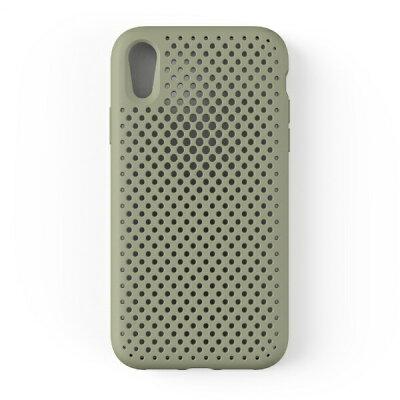 HAMEE iPhone XR用 6.1専用 AndMesh メッシュiPhone ケース クレイグリーン 612-958950