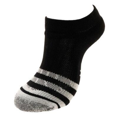 アンドソックス ANDSOX 靴下 サポートパイル ショート SUPPORT PILE SHORT ブラックホワイトストライプ/BLACKWHITESTRIPE メンズ レディース ASSSBWS