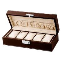 (ローテンシュラガー)LUHW 腕時計 収納ケース コレクションボックス 5本用 合皮 ブラウン SP-80048LBR