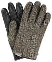 EVOLG ハリスツイード 手袋 スマートフォン対応 サイズ L (SIR/ヘリンボーン)