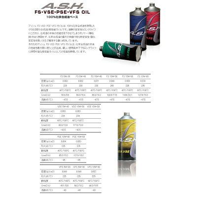 A.S.H OIL アッシュオイル 4サイクルオイル エンジンオイル VSE 10W-50 1L
