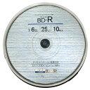 Good-J ブルーレイディスク BD-R 1回録画用 データ&ビデオ対応(25GB/130min) 1速 ホワイトプリンタブル(ワイドプリント対応) 10枚 スピンドルケース GJB25-6X10PW