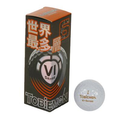 TOBIEMON ゴルフボール 飛衛門 高性能6ピースボール 1スリーブ 3球 /ロイヤルホワイト FGD-6S