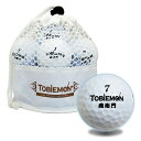 飛衛門 公認球 2ピース構造ゴルフボール 白 12球 メッシュバック入り TBM-2MBW