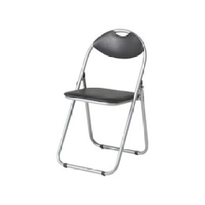 折りたたみ椅子 ベーシックタイプ ブラック CO-002B
