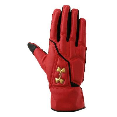 (UNDER ARMOUR)アンダーアーマー    UAベースランナーグローブII 野球 バッティング手袋(ebb2230-red)