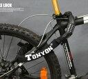 Orange-Store ダイヤル式チェーンロック TONYON 自転車 バイク用 盗難防止 ダイヤル5桁 ブラック 黒