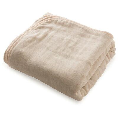 ナイスデイ mofua 洗うたびにふっくら三河木綿の六重ガーゼケット サイズ:マルチ 色:ベージュ