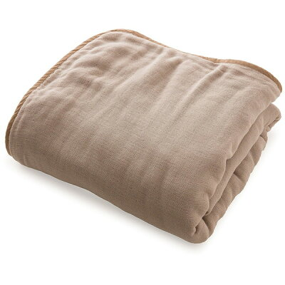 ナイスデイ mofua 洗うたびにふっくら三河木綿の六重ガーゼケット サイズ:マルチ 色:グレージュ