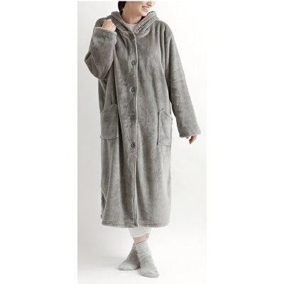 mofua aqua プレミアムマイクロファイバー 着る毛布 フード付き