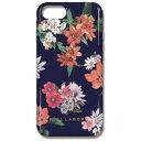 サムライワークス iPhone 8用 背面 OilshockDesigns ケース Vivid flower ネイビー OSHI7S534
