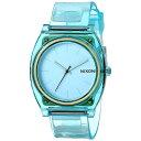 NIXON  腕時計 THE TIME TELLER P TRANSLUCENT MINTタイムテラー P トランスルーセント/ミント  NXS-NA1191785-00 ユニセックス