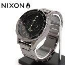 NIXON  腕時計 THE 48-20 CHRONO POLISHED GUNMETAL/LUM48-20 クロノ ポリッシュドガンメタル/ラム  NXS-NA4861885-00 メンズ