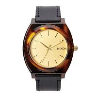 NIXON ニクソン THE TIME TELLER ACETATE LEATHER タイムテラーアセテートレザー メンズ/レディース腕時計 ゴールド/モラセス(NA5131424-00)