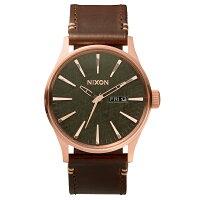 NIXON(ニクソン)腕時計 THE SENTRY LEATHER ROSE GOLD GUNMETAL BROWN(セントリーレザー ローズゴールド ガンメタル ブラウン) NXS-NA1052001-00 メンズ