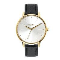 NIXON(ニクソン)腕時計 THE KENSINGTON LEATHER GOLD WHITE BLACK(ケンジントンレザー ゴールド ホワイト ブラック) NXS-NA1081964-00 レディース