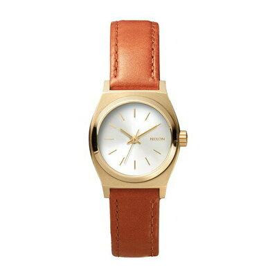 NIXON(ニクソン)腕時計 THE SMALL TIME TELLER LEATHER LIGHT GOLD SADDLE(スモールタイムテラーレザー ライトゴールド サドル) NXS-NA5091976-00 レディース