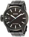NIXON 腕時計 THE CHRONICLE SS ALL BLACK BROWN クロニクルSS オールブラック ブラウン NXS-NA198712-00 メンズ