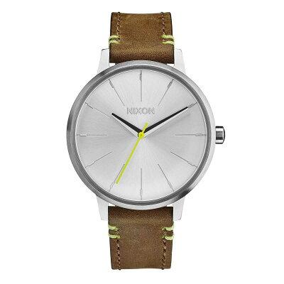 ニクソン NIXON 腕時計 KENSINGTON LEATHER BROWN/LIME NA1082290-00 レディース