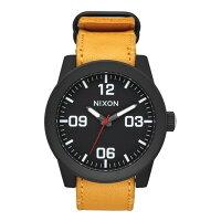 NIXON ニクソン THE CORPORAL コーポラル メンズ腕時計 オールブラック/ゴールデンロッドNA2432448-00kb