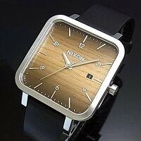 NIXONニクソンRAGNAR 36 ウッド/シルバー ボーイズサイズ 腕時計A985-2457