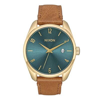 NIXON THE BULLET LEATHER バレットレザー レディース腕時計 ライトゴールド/ターコイズNA4732626