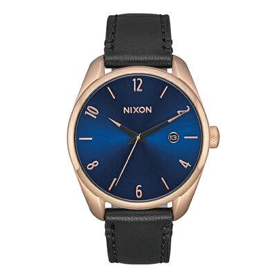 NIXON ブレット レザー BULLET LEATHER 腕時計 レディース ローズゴールド/インディゴ/ブラック NA4732763-002017