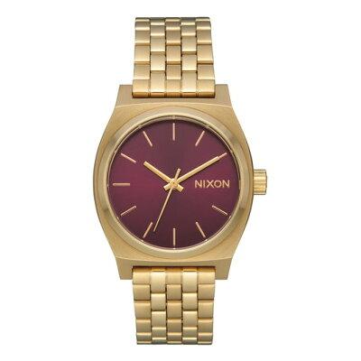 ニクソン NIXON ミディアム タイムテラー MEDIUM TIME TELLER 腕時計 レディース ライトゴールド/ボルドーサンレイ NA11302809-00