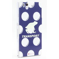 TRANSPORT 蓄光FROG ネイビー (クリア) design by Moisture / for Xperia Z SO-02E/docomo(SECOND SKIN)