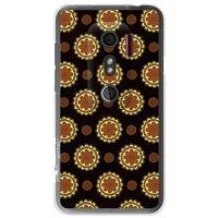 フラワースポット チョコレートオレンジ / for HTC EVO 3D ISW12HT/au (Coverfull)
