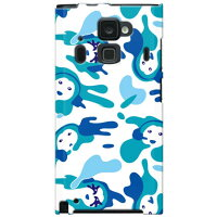 unnonカモフラ (blue) designed by 野口路加 for ARROWS NX F-06E docomo (SECOND SKIN)(全面)