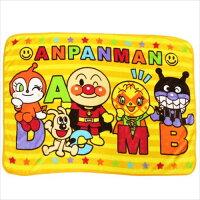 アンパンマン ひざ掛け毛布 マイクロファイバーブランケット イニシャル バンダイ 100×70cm