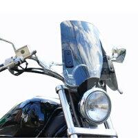 スクリーンバイザー メーターバイザー 中型タイプ スモークスクリーン 風防 汎用 aiNET製