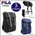 FILA フィラ リュック ロゴテープフラップデイパック ネイビー・FM2042
